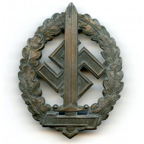 "SA sport badge for war wounded by Werner Redo, Saarlautern ""M1/100"""