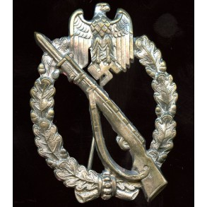 Infantry assault badge in silver by Paul Meybauer, early cut out variant
