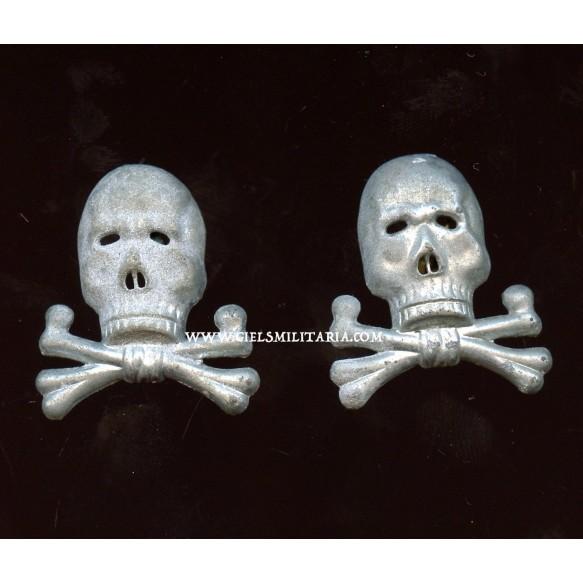 Rare Brunswick panzer skulls + 2 portraits in wear