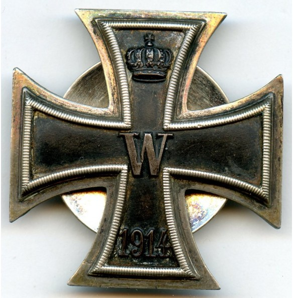 "WW1 Iron cross 1st class, 800 silver with double ""800"" screw back variant"