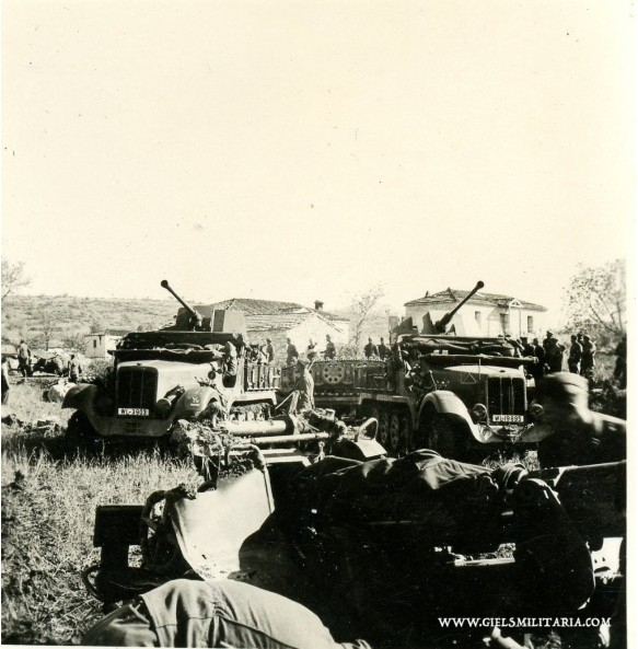 Private photo Sd.Kfz. 6/2 Flak 37, Yugoslavia 1941.