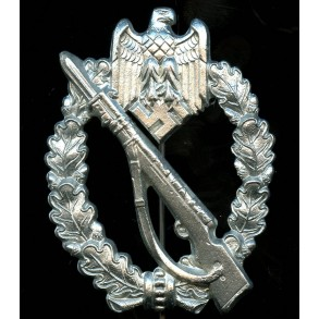 """Infantry assault badge in silver by Sohni, Heubach & Co """"S.H.u.Co. 41"""""""