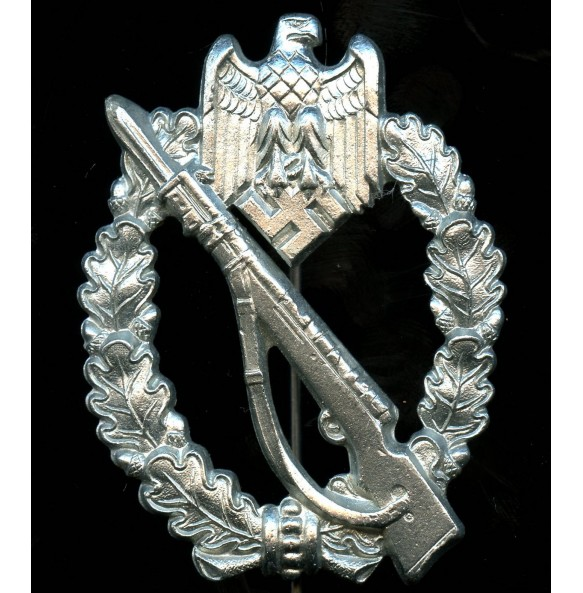 "Infantry assault badge in silver by Sohni, Heubach & Co ""S.H.u.Co. 41"""