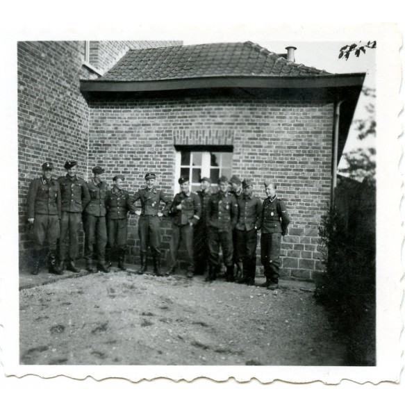 Private photo of late war SS troops LSSAH in Belgium, 1944