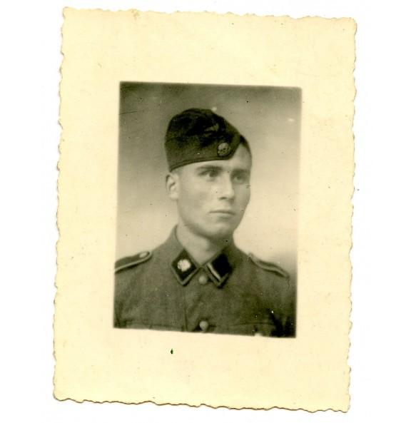 "Private photo of a SS-Sturmmann ""Totenkopf"" June, 1944"