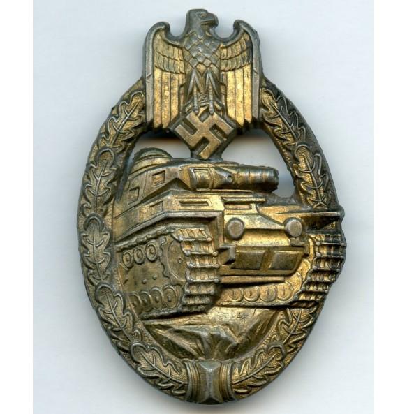 Panzer assault badge in bronze by Schauerte & Höhfeld