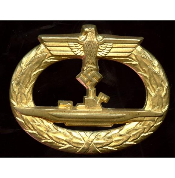Kriegsmarine U-boat badge by W. Deumer