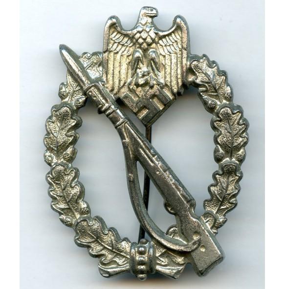 Infantry assault badge in silver by Ernst L. Müller