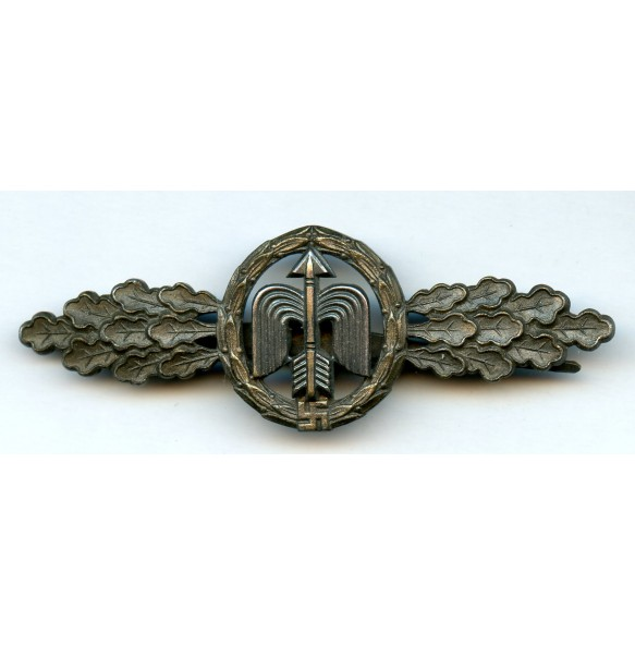 Luftwaffe fighter clasp in bronze by G.H. Osang
