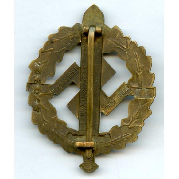 SA sport badge in bronze by F. Schneider #243047