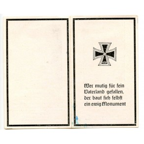 Death card to brother Testor, SS Panzer KIA Normany 8 June 1944
