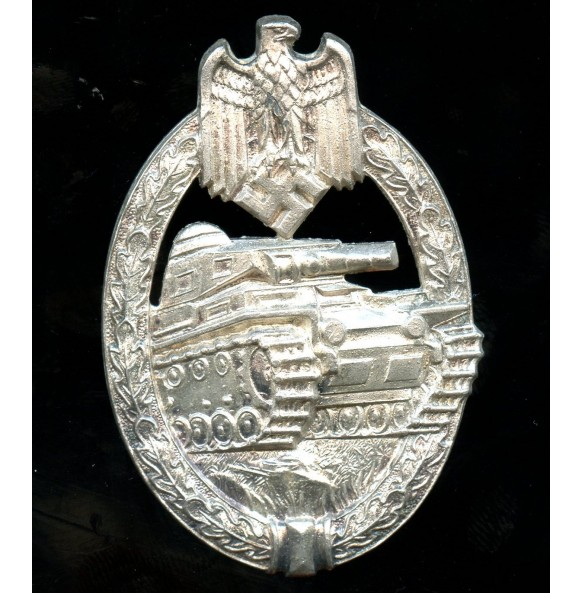 Panzer assault badge in silver by Hermann Aurich