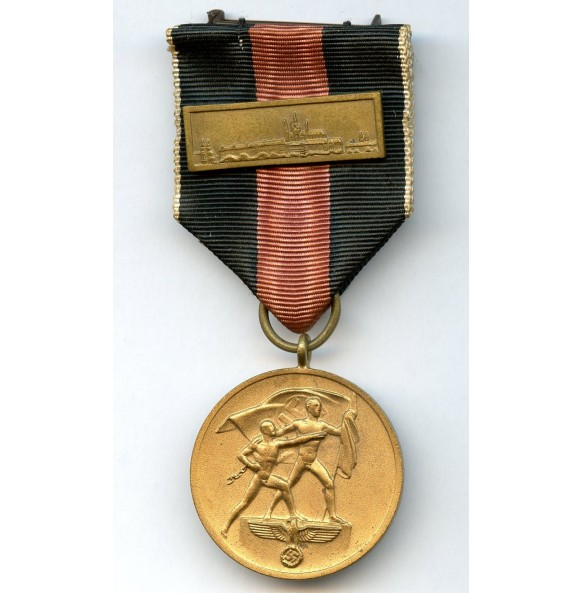Czech annexation medal with Prague bar