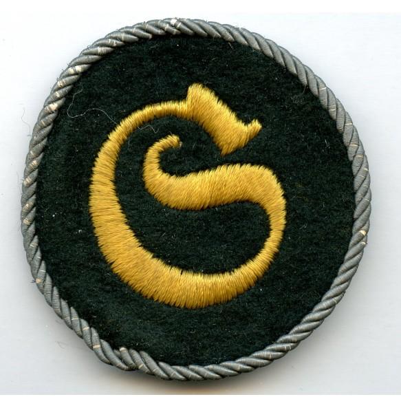 "Proficiency trade badge ""Schirrmeister"" with bullion rope"