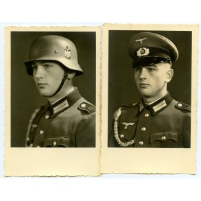 2 portrait photo Wehrmacht soldier