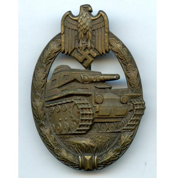 """Panzer assault badge in bronze """"Juncker set up"""""""