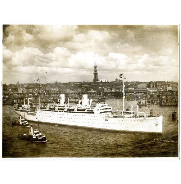 "Large photo Kdf ship ""Stuttgart"" 1939"