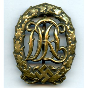 DRL sport badge in bronze by Wernstein, Jena