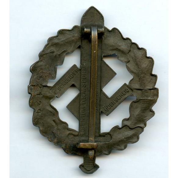 SA sport badge in bronze by F. Schneider #552129