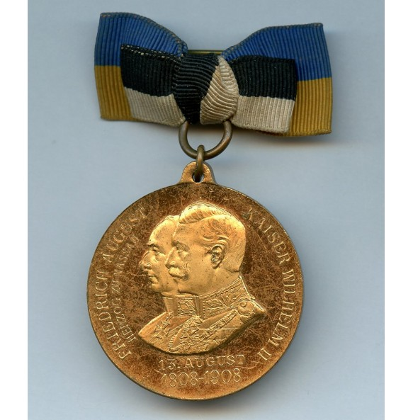 Nassau Medal 100th 2nd Regiment Anniversary 1808 - 1908
