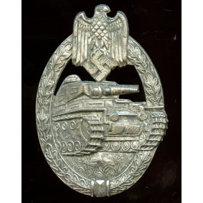 "Panzer assault badge in silver by P. Meybauer ""2nd pattern"""