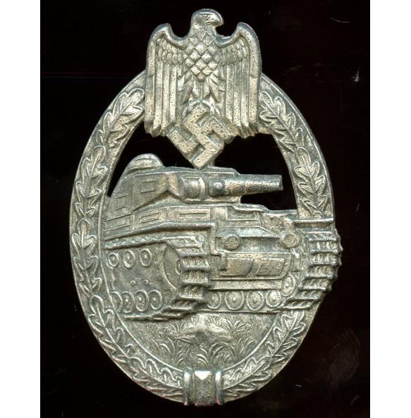 "Panzer assault badge in silver by P. Meybauer ""2nd pattern"""