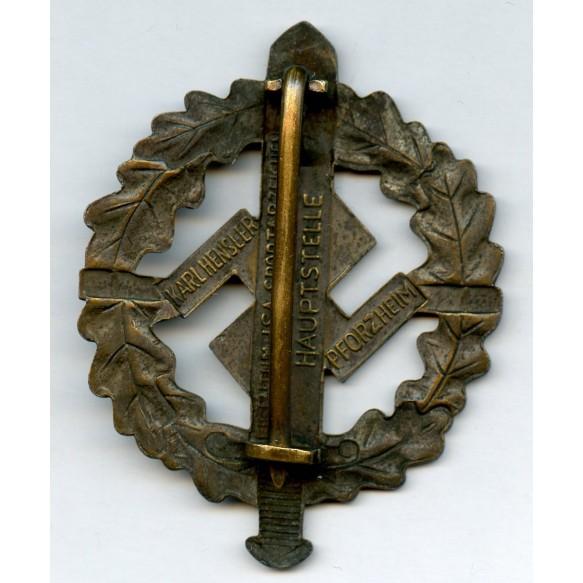 SA spot badge in bronze by Karl Hensler