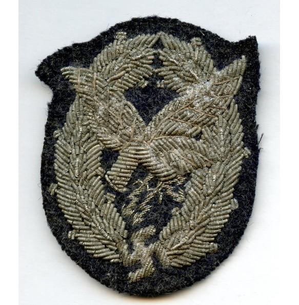 Luftwaffe radio operator/airgunner badge, bullion woven!