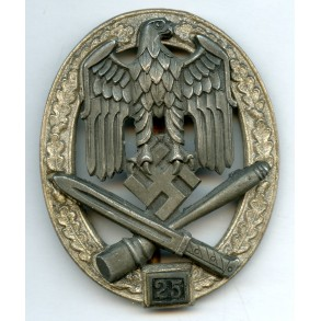 "General assault badge 25 assaults by R. Karneth ""RK"""