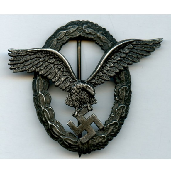 """Luftwaffe pilot badge by F.A. Assmann & Söhne """"A"""""""