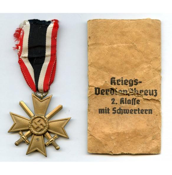War merit cross 2nd class with package to Roman Palme, Gablonz