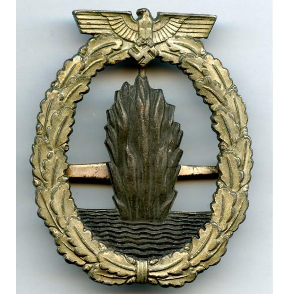 Kriegsmarine minesweeper badge by Wilhelm Deumer