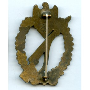 "Infantry assault badge in bronze by Friedrich Linden ""FLL"" Big logo"