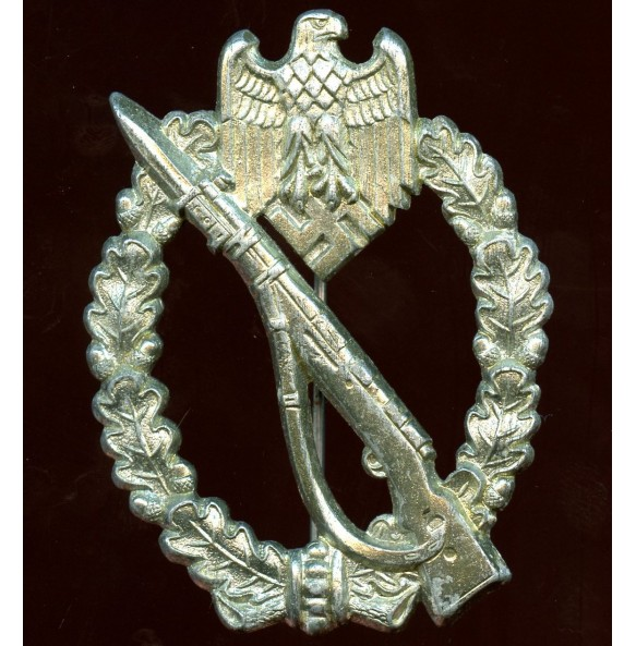 "Infantry assault badge in silver by Gebr. Wegerhoff ""GWL""  chrome variant"