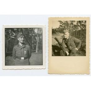 2 private photos Luftwaffe Gefreiter with HJ Leistungsabzeichen