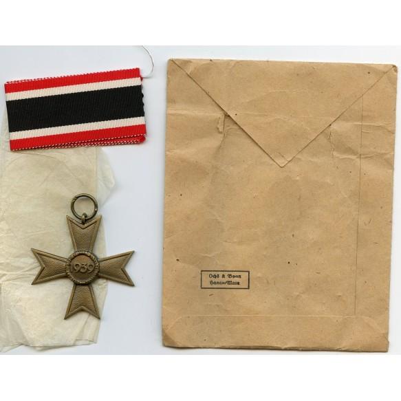 "War merit cross 2nd class by Ochs & Bonn ""17"" + package"