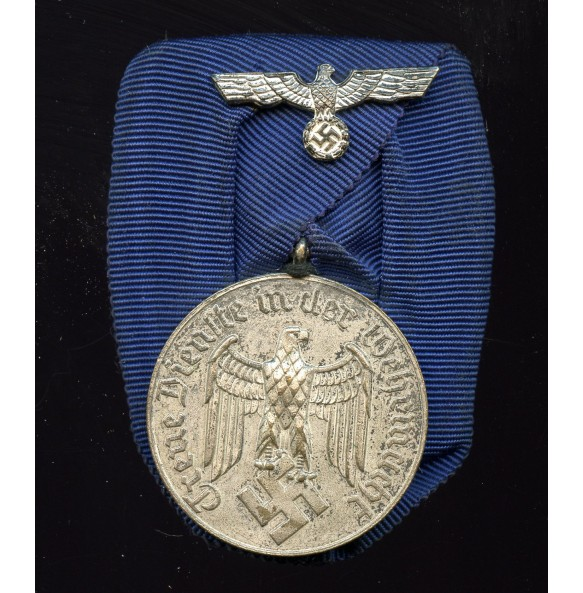 Army 4 year service medal, single mounted