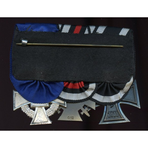 WW1 veteran medal bar with Iron cross 2nd class