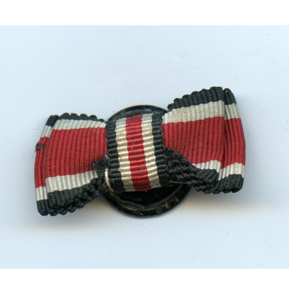 Iron cross 2nd class medal bow ribbon on button.