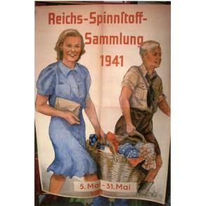 """Period poster """"Reichs-Spinnstoff-Sammlung 1941"""" large street poster"""
