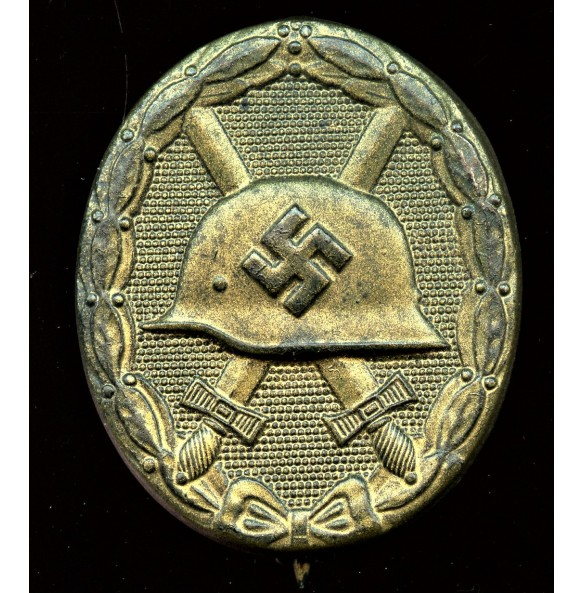 """Wound badge in gold by Oberhoff & Cie """"81"""""""