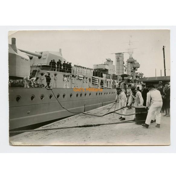 "Period press photo Battle ship ""Köln"""