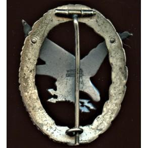 Luftwaffe Radio operator airgunner badge by Wilhelm Deumer
