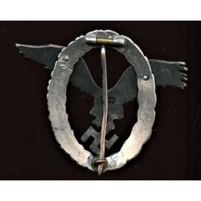 """Luftwaffe pilot badge by C.E. Juncker """"J1"""" aluminum"""