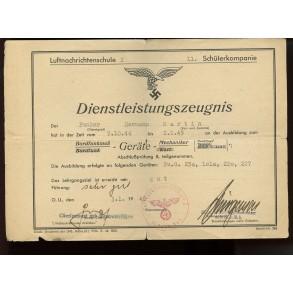 Luftwaffe Soldbuch to Flak Gefr. H. Martin, defence of Halle- Saale, WIA April 1945