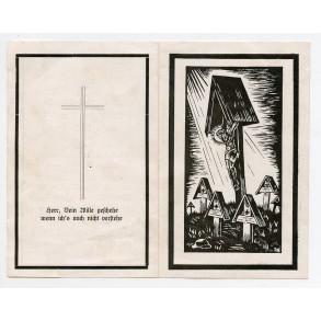 Death card to RK Oak Leaf winner Sepp Kult, 101. Jäger-Division