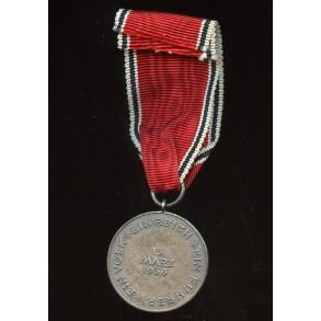 13. March 1938 Austrian annexation medal