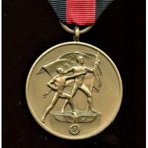 1. October 1938 Czech annexation medal