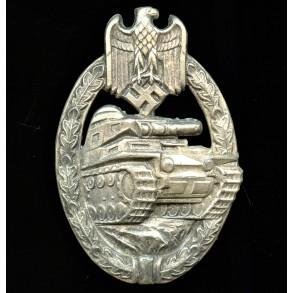 Panzer assault badge in silver by Wilhelm Deumer