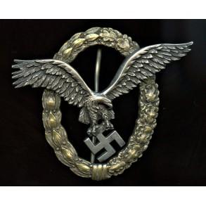 """Luftwaffe pilot badge by C.E. Juncker """"J1"""""""